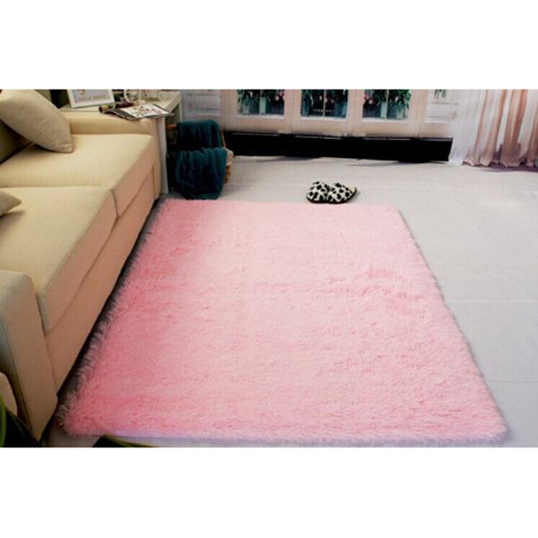 120*160cm Living Room Carpet Shag Rug for Children Play Solid Home ...