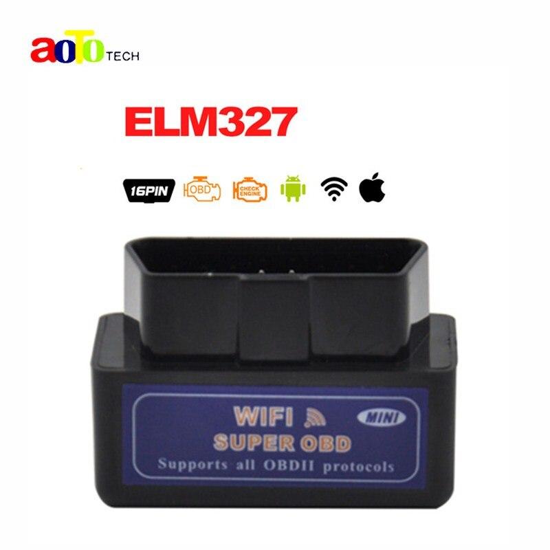 Prix pour Qualité A + ELM 327 WIFI V1.5 OBDII/OBD2 Auto Scanner Outil soutien Android et Système IOS ELM327 Wifi Soutien OBD II protocoles