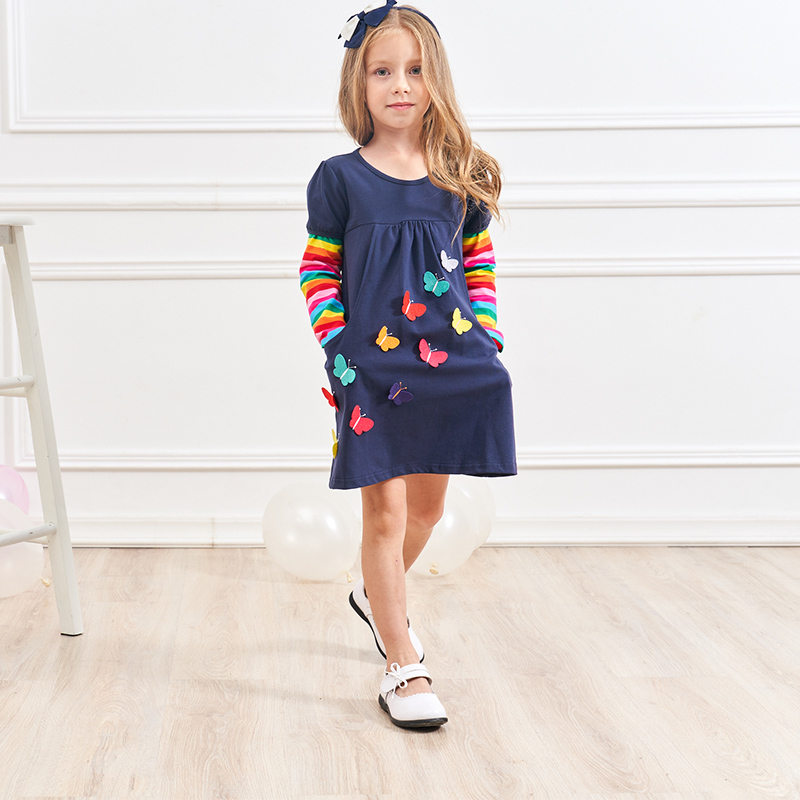 HTB1FCCAXPzuK1RjSspeq6ziHVXaV VIKITA Kids Girls Dress Baby Children Toddler Princess Dress Vestidos Children's Clothing Girls Winter Dresses 2-8Y LH5805 MIX