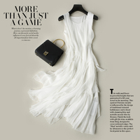 Шелковые платья женские натуральный шелк вечернее Вечерние Длинное пляжное праздничное платье белое высокое качество одежда Бесплатная д