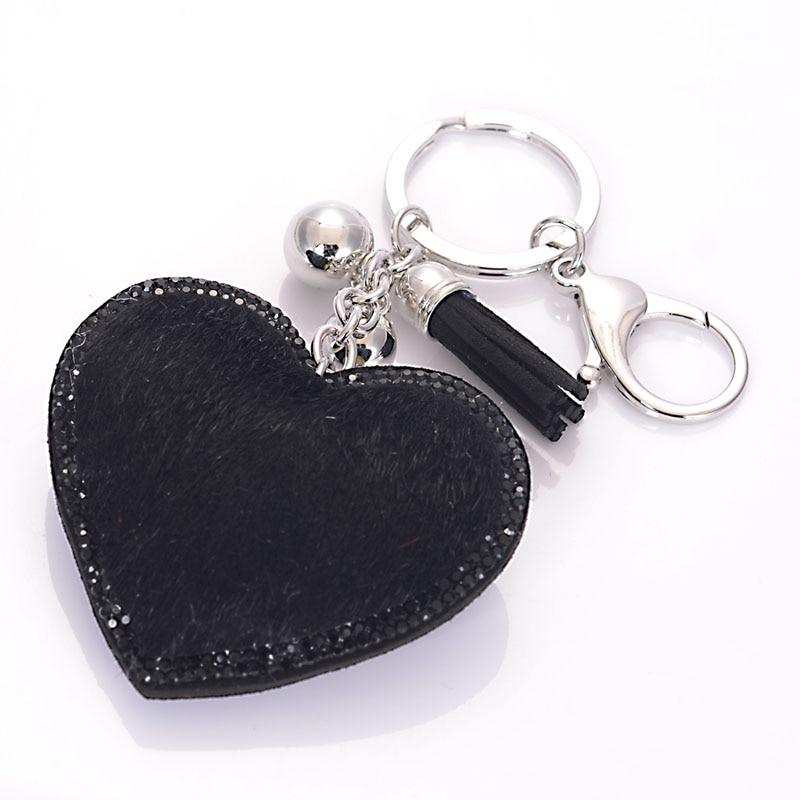 Heart Crystal Rhinestone Handbag Charm Pendant Keychain Bag Keyring Key Chain et