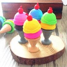 48 teile/los Nette Eis 3D gummi radiergummis Für für Kinder Schöne Kreative Schreibwaren Geschenk Produkt Kinder Büro Schule Liefert