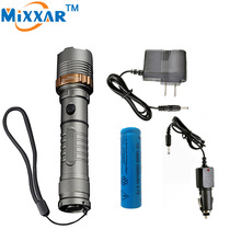 zk30 4000LM Self Defense Rechargeable LED flashlight Cree XM-L T6 powerful led Tactical Torch lamps for 18650 or 3xAAA battery