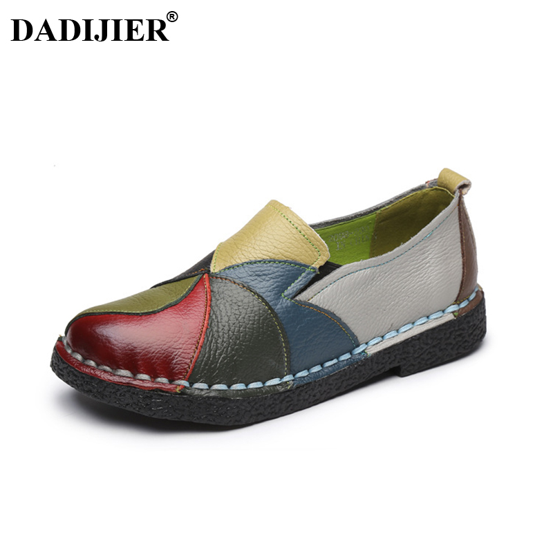 DADIJIER Handmade Leather Soft Shoes National Leather Flats Shoes For Women Casual Female Flats Lady Toe Shoes footwear JH172DADIJIER Handmade Leather Soft Shoes National Leather Flats Shoes For Women Casual Female Flats Lady Toe Shoes footwear JH172