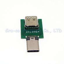 5pcs/lot USB 3.1 TYPE-C Test board Extension cord male to female Type-C data cable test board