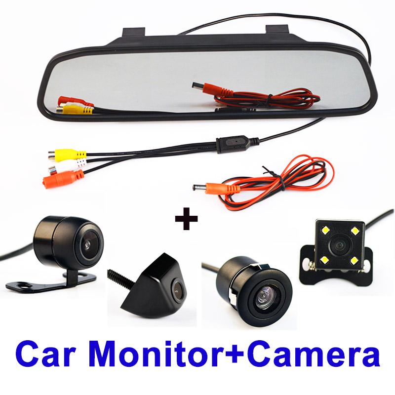 Prix pour 4.3 Pouce Auto Parking Système HD Voiture Rétroviseur Moniteur avec 170 degrés Imperméable vue arrière de Voiture caméra LIVRAISON GRATUITE