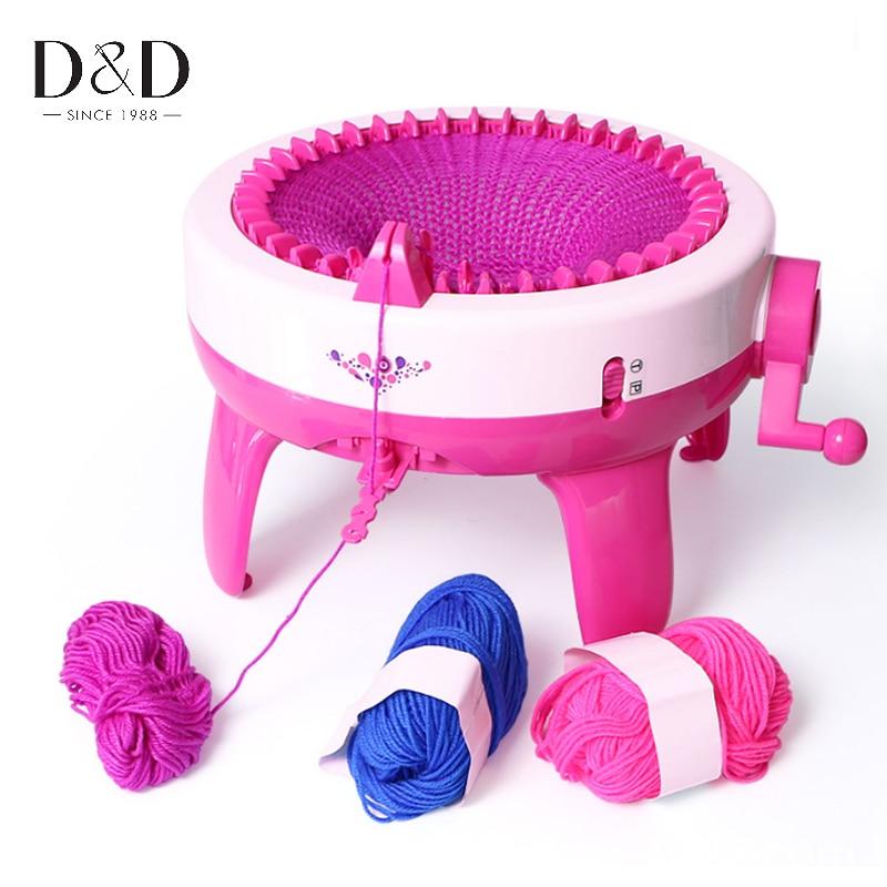 40 posiciones de aguja gran mano máquina de tejer telar tejido para sraf  sombrero niños juguete educativo de aprendizaje en Herramientas de costura  y ... 3672ab445e8
