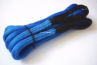 Blue 19mm 9m 3 4inch 30feet Kinetic Recovery Rope Towing Rope Double Braided Nylon Recovery Rope