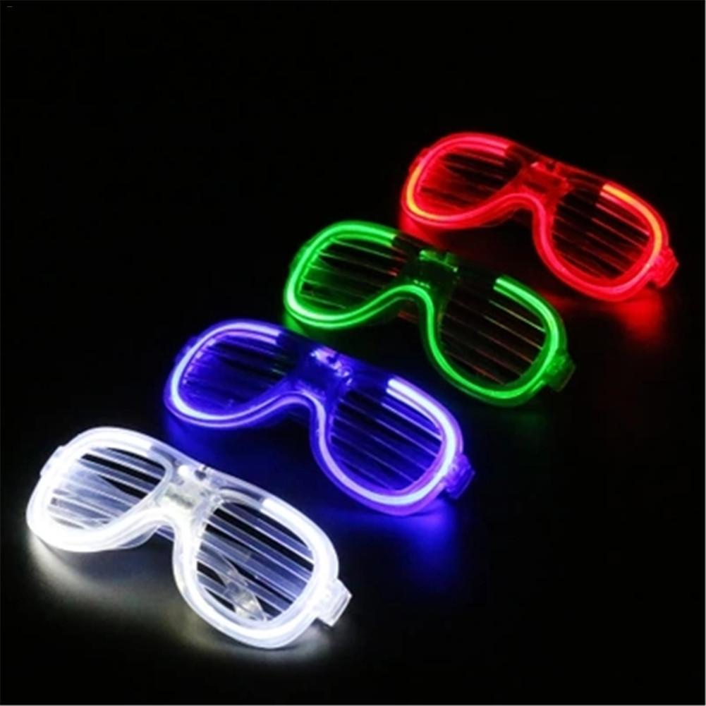 Shutters LED Glasses Fair Lights Battery Party Lights Outdoor Prom Fluorochrome Glasses Battery Party Lights Decoration ...