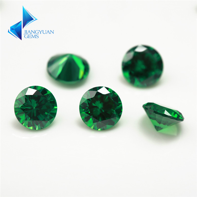 1~3mm 5A Round Cut CZ Stone Brilliant Green Cubic Zirconia Synthetic Gems stone