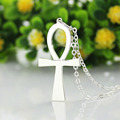 Religious Cross Necklace Sterling Silver Egyptian Ankh Symbol Of Life Cross Charm Simple Cross Necklace Faith Jewelry