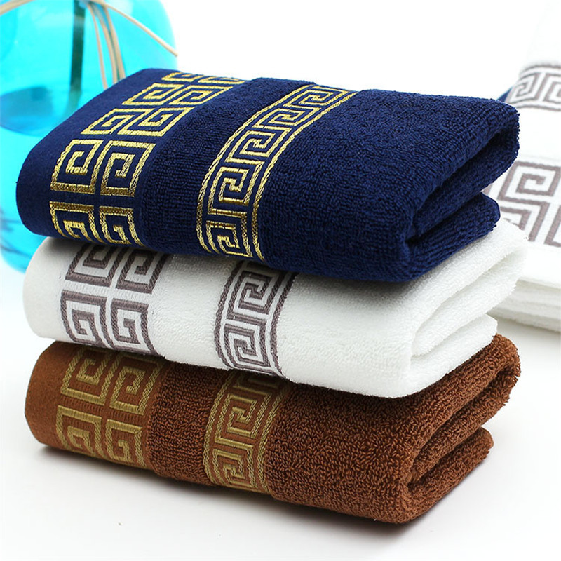 Embroidered Terry Cloth Hand Towels: Luxury Embroidered Face Towel 100% Cotton Terry Cloth Bath