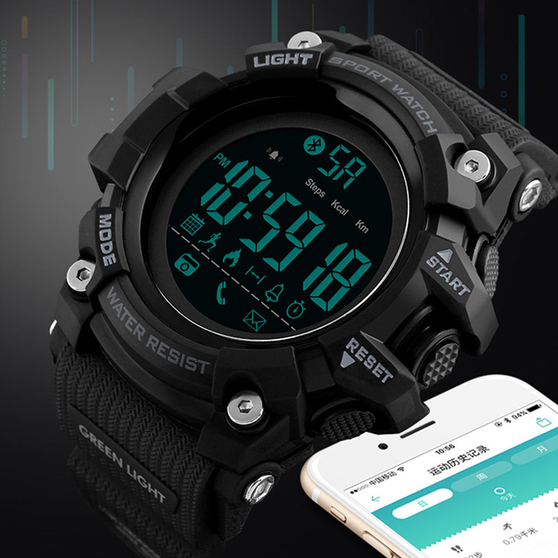 Remote Camera Smart Watch Pedometer APP Call Remind Smart Wristband Sleeping Monitor Men Smartwatch For Android IOS SKMEI 2018 bluetooth 4 0 smart watch mtk2502a pedometer sleep monitor remote camera music call record wristwatch for ios android smartphone