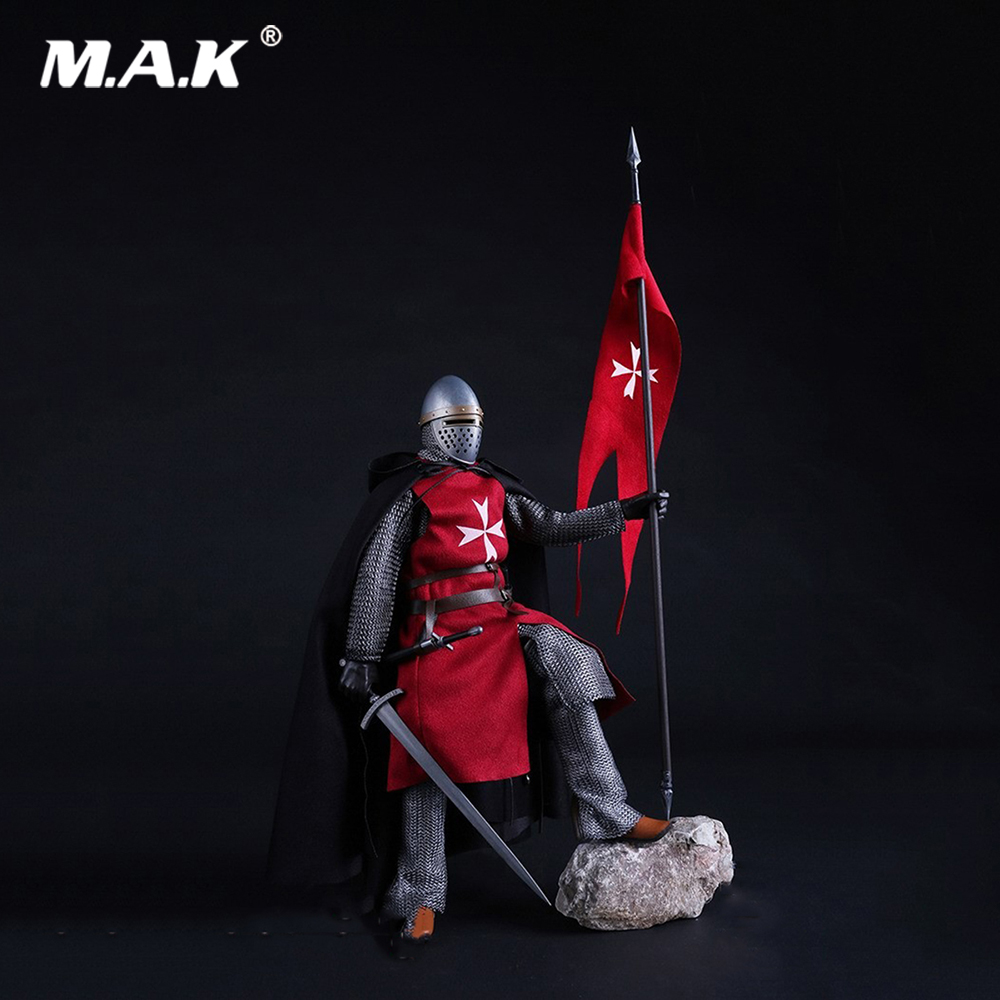 ZH005 1/6 Scale Knights of Malta Ancient Medieval Action Figure Soldier Type 12'' Figure Body for Collection Gift