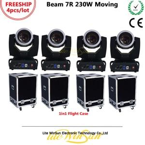 Litewinsune Freeship 4pcs with Flight Case Sharp Beam Moving Head Light Stage Lighting DJ Beam 7R 230W