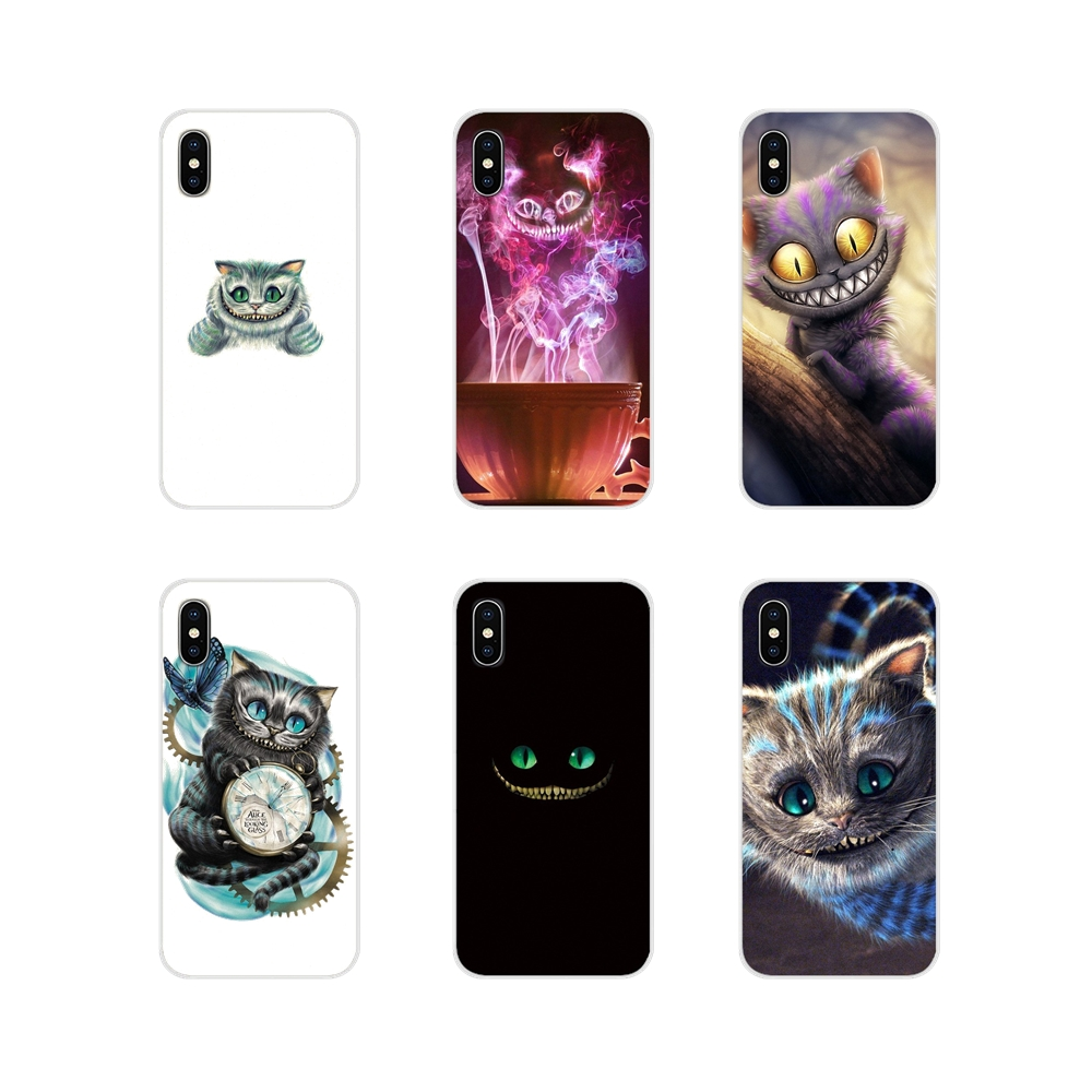 Soft Silicone TPU <font><b>Case</b></font> For <font><b>Huawei</b></font> P8 9 Lite Nova 2i 3i GR3 Y6 Pro <font><b>Y7</b></font> Y8 Y9 Prime 2017 2018 <font><b>2019</b></font> Alice in Wonderland Cheshire <font><b>Cat</b></font> image