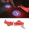 2 pcs LEVOU Luz de Aviso De Porta Do Carro Logotipo Projetor Laser Para volkswagen vw golf 4 mk4 mk4 bora touran caddy beatles besouro