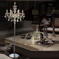 7Heads Crystal floor lamp cognac crystal lights stand lamp living room bedroom luxury candle floor lamp Crystal
