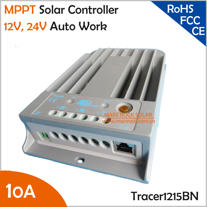Tracer1215BN 10A 12V 24V Auto Work MPPT Solar Charge Controller with Die-cast Aluminum Design best price solar mppt charge 12v 24v regulator 10a tracer1215bn solar charge controller