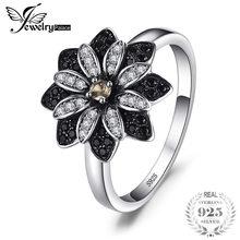 469c3905000a JewelryPalace flor Natural Taupe ahumado cuarzo negro Spinel cóctel anillo  de Plata de Ley 925 nueva moda fina joyería para las .