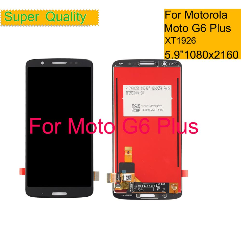 """10Pcs/lot 5.9"""" For Motorola Moto G6 Plus XT1926 LCD Display Touch Screen Digitizer Sensor Complete LCD Assembly Monitor Module-in Mobile Phone LCD Screens from Cellphones & Telecommunications    1"""
