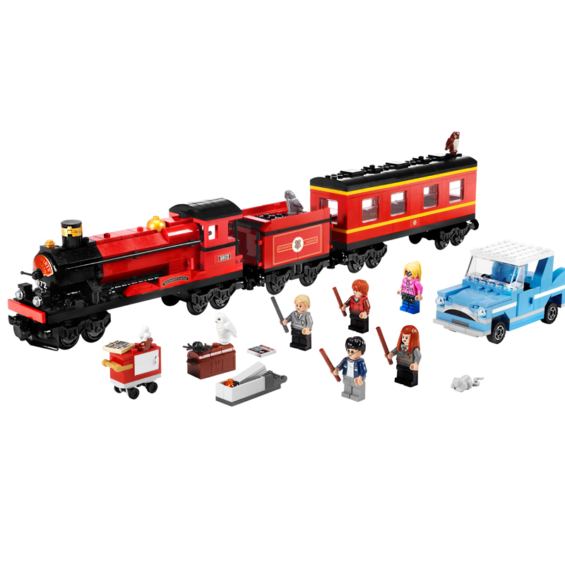 Hogwarts Express Train Harry Hermione Ron Building Blocks Kit Bricks Classic Movie Model Kids Toys Potter Compatible Legoings