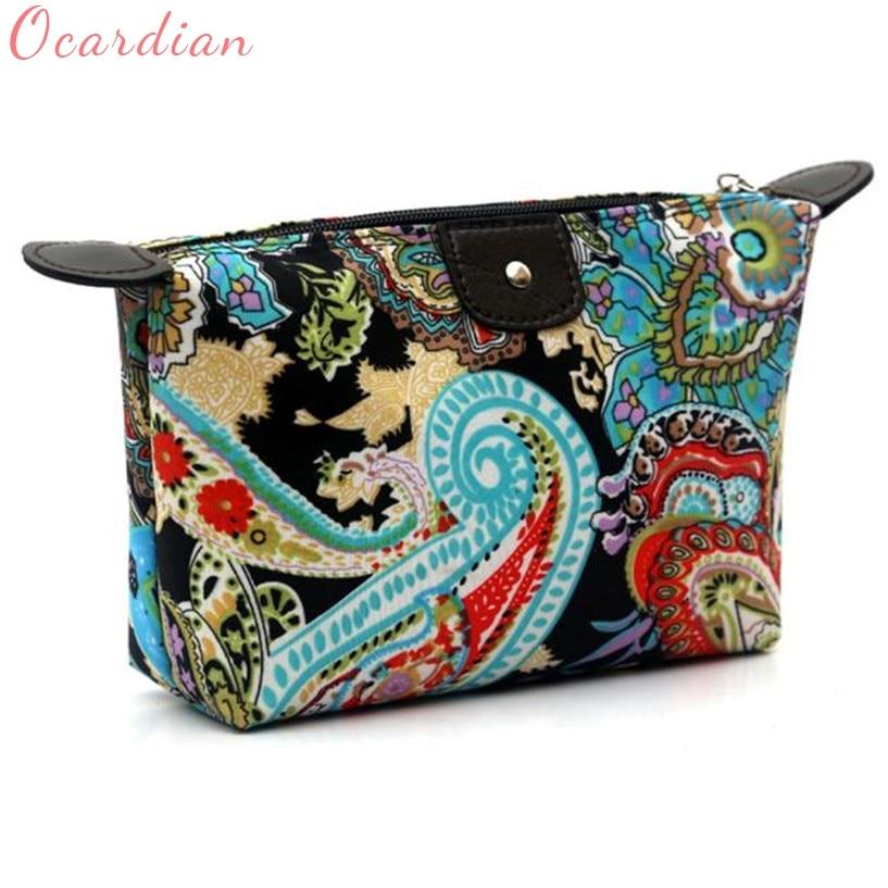 Ocardian Fabulous Fashion Women Travel Make Up Cosmetic Pouch Bag Handbag Casual Purse cosmetic bag Makeup bag wholesale #03