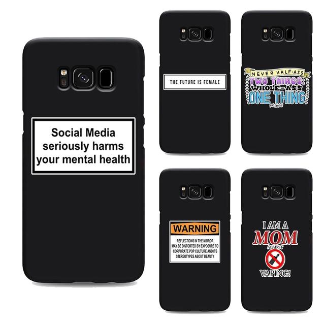 Social Media Harms Mental Health Phone Case For Samsung Galaxy S7 Edge S6 S5 S8 S9