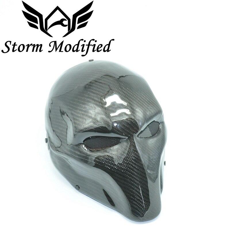 Airsoft Paintball masque tactique glas Protection complète du visage masque en fibre de carbone armée masque de Protection des yeux Costume pour Halloween