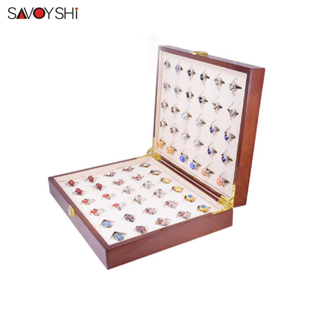 все цены на SAVOYSHI Brand 300*240*68mm 30pairs Capacity Luxury Cufflinks Box High Quality Painted Wooden Box Authentic Jewelry gift Boxes