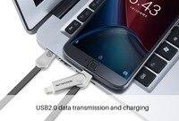 Nillkin מקורי מיקרו usb plug micro כבל usb עבור iphone כבל טעינה מטען מהיר עבור i6 iphone 6 s בתוספת i5-iphone 5 5S se