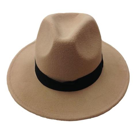 14 Colors Wool Trilby Caps For Men Women Vintage Fedoras Panama Hats With Black Ribbon los sombreros de ala de lana YY0399 Islamabad