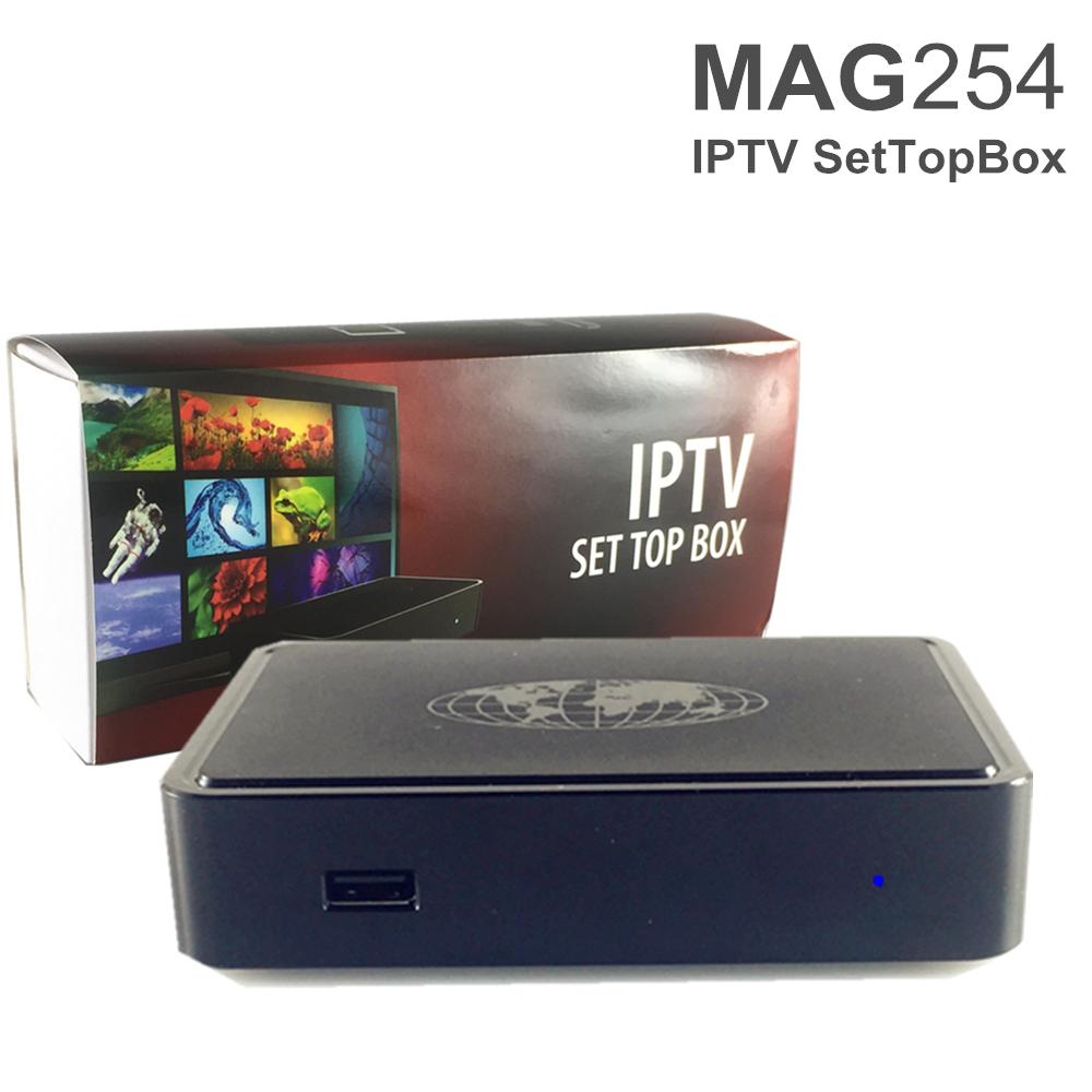 Prix pour Nouvelle arrivée MAG254 Boîte IPTV Linux Système MAG 254 Set Top boîte Avec USB Wifi Pas Comprennent Iptv Compte Mag254 TV Box