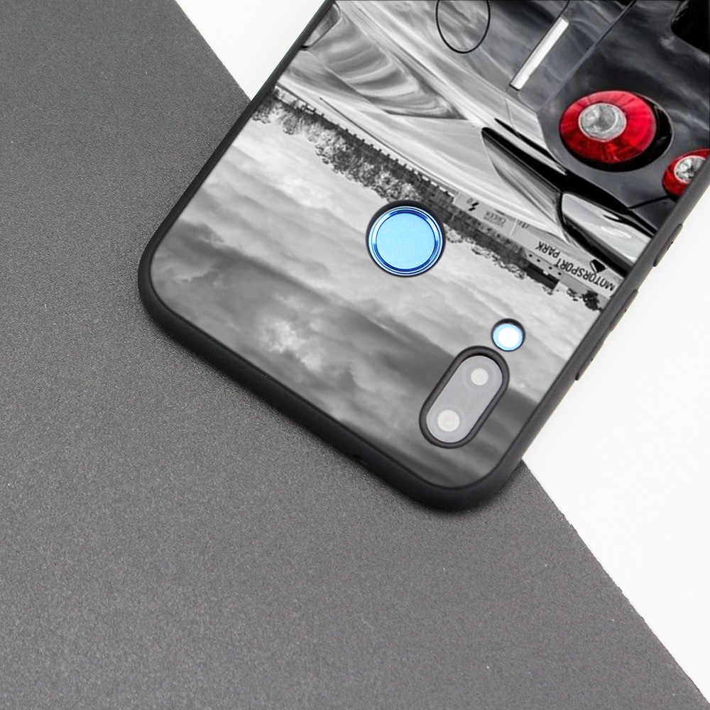 Silicone Case Cover for Huawei P20 P10 P9 P8 Lite Pro 2017 P Smart+ 2019 Nova 3i 3E Phone Cases Drift Cars Auto