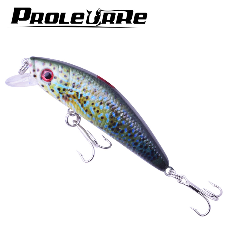 1Pcs Wobbler Crankbaits 7cm 8,2g Painted Road Bait Classic 5 Färg Fishing Lures VIB Waters Realistic Fake Bait 6 # hook YR-443