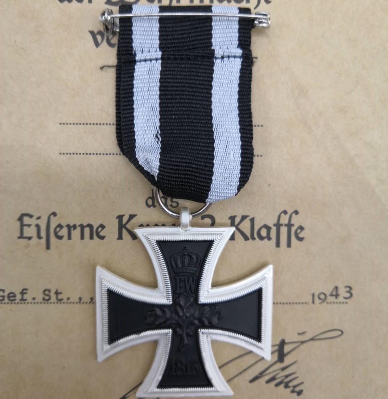 WWI German Medal Iron Cross 2nd Class EK2 1870 Badge World War One WW1