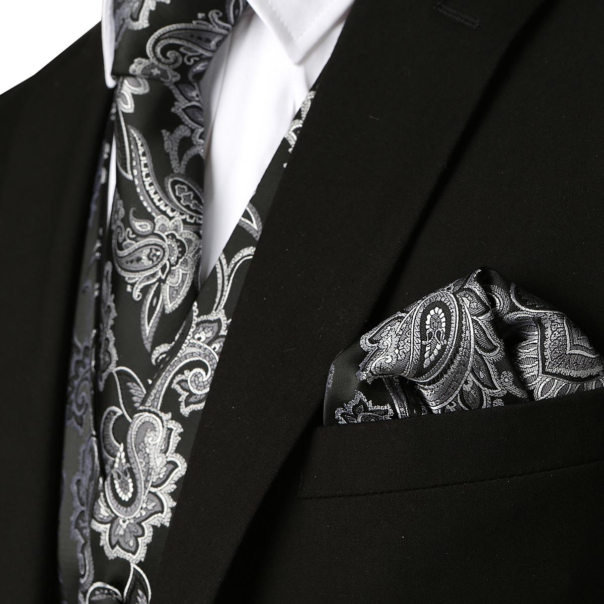 Мужской классический жаккардовый жилет covrlge с пейсли рисунком