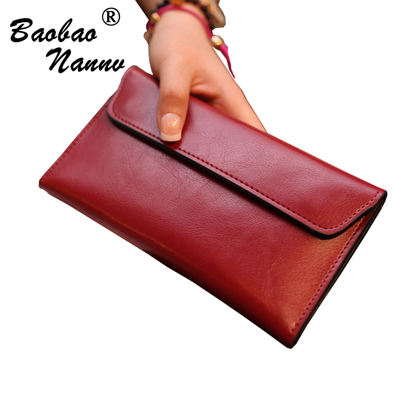 Brand Leather Women Wallets Long Thin Purse Cowhide Multiple Cards Holder Clutch Bag Fashion Standard Wallet For Female Handbag new head layer cowhide purse female butterfly skin carving bag long wallet retro handbag leather lady purse