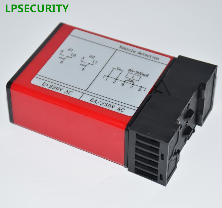 LPSECURITY Double Channels Induction Vehicle Loop Detector With Two Channels Loop Signal