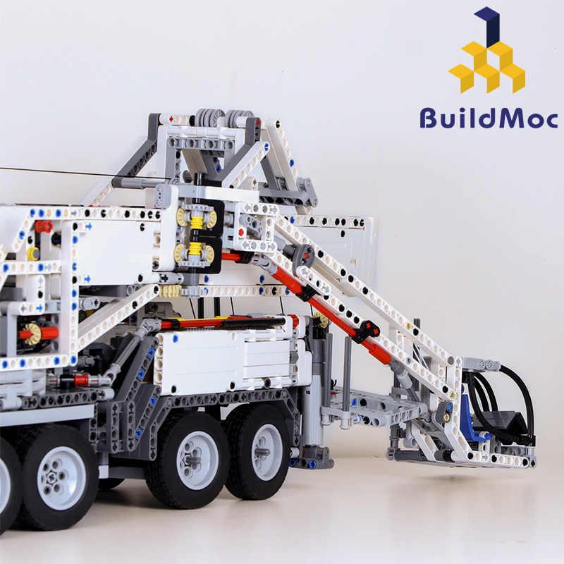 BuildMOC New Power Mobile Crane BuildingLTM11200 RC Liebherr Technic Motor  Kits Blocks Bricks birthday LegoINGlys Gift C104