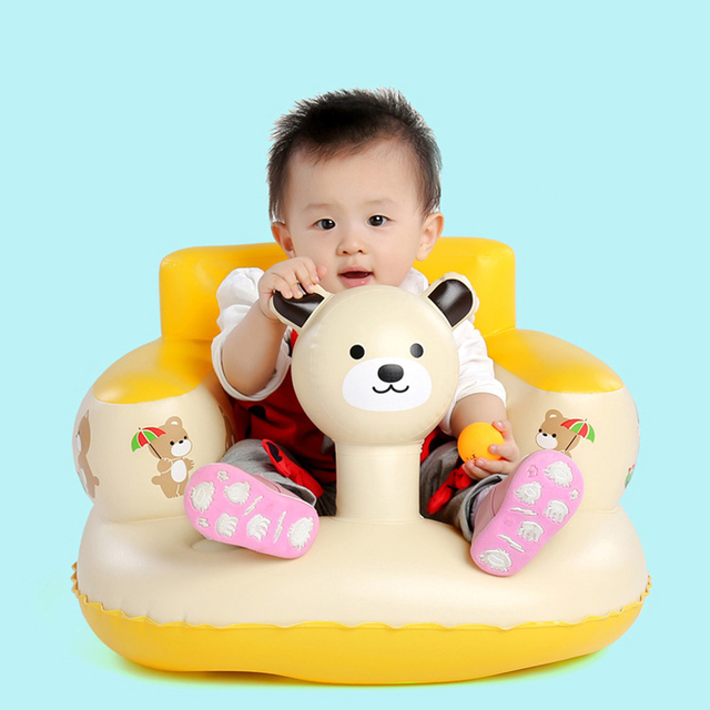1Pc Baby Safety Seats Inflatable Portable Chairs Newborns Sofa Play Game Mat Infant Kids Learn Dining Chair Bathroom Stools Seat