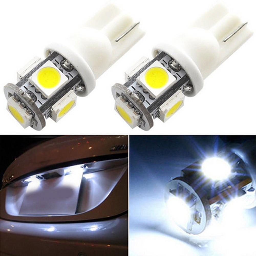 Image 5 - 100PCS New Super Bright White Side Wedge 5 SMD 5050 LED Interior Light 168 194 2825 W5W Free Shipping-in Car Headlight Bulbs(LED) from Automobiles & Motorcycles