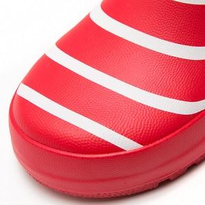 Image 3 - Botas de chuva, novas botas com listras para crianças, meninos e meninas, cano médio, à prova d água, antiderrapante, de borracha escola menino menina vermelho
