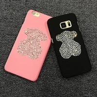 For iPHONE 6 Case Glitter Shine Bling Bling Bear Jewels DIY Luxury Phone Cover Case For iphone 6S 6PLUS 7 7PLUS 8 8PLUS X 5 5S
