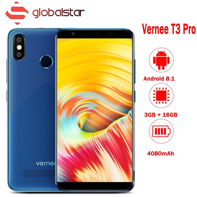 Vernee T3 Pro 5.5 ''18:9 Plein Écran Smartphone 3 GB RAM 16 GB ROM 4080 mAh téléphone portable Android 8.1 quad Core 4G Téléphone Portable Celular