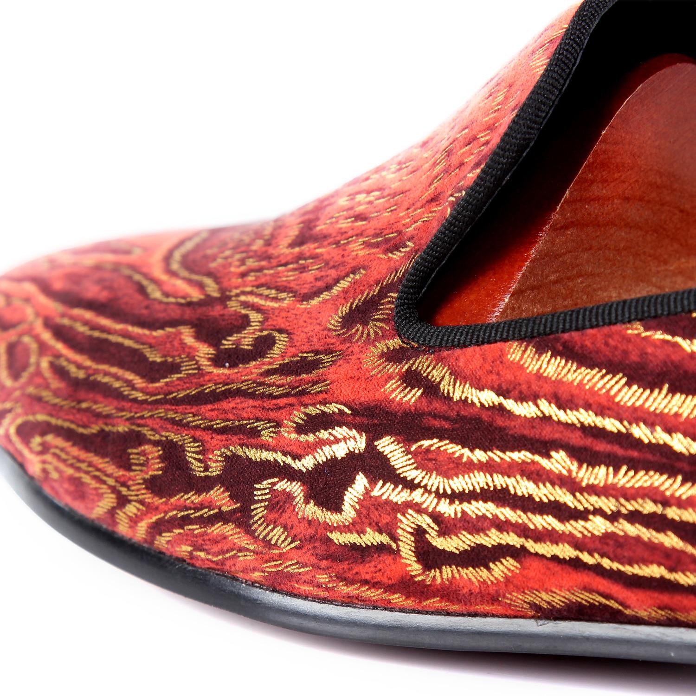 Homens Leopardo De Design Top Azul Céu Sapatos Impresso Casamento Tamanho Vestido Loafers Vermelho Venda Dos 7 vermelho Sapatas 14 Harpelunde Ixz0qPEwvE