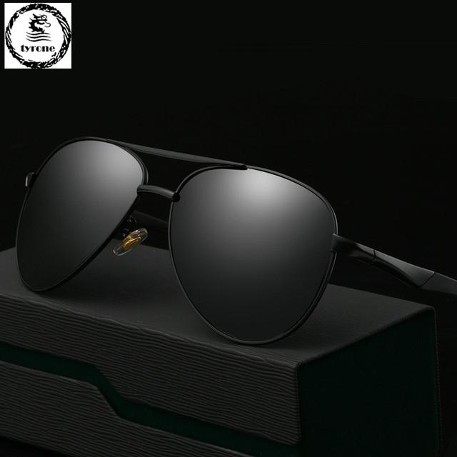 TYRONE 2016 venda quente Dos Homens De Alta Qualidade Óculos Polarizados Marca Condução óculos de Sol óculos de sol UV 400 Moda Óculos com Box FREE SHIP