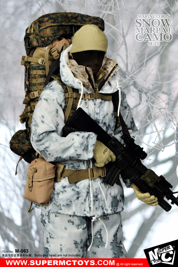 1/6 scale figure doll accessory Marine Corps Snow Marpat Camo sets for 12 action figure doll Not included weapon;body and head did1 6 the rock us marine corps general francis x hummel model12inch action figure doll the finished product