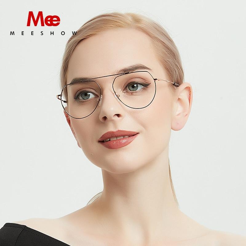 9ec8bc77f9 Meeshow titanium glasses frame women men glasses optical frame women men  glasses 100% pure titanium
