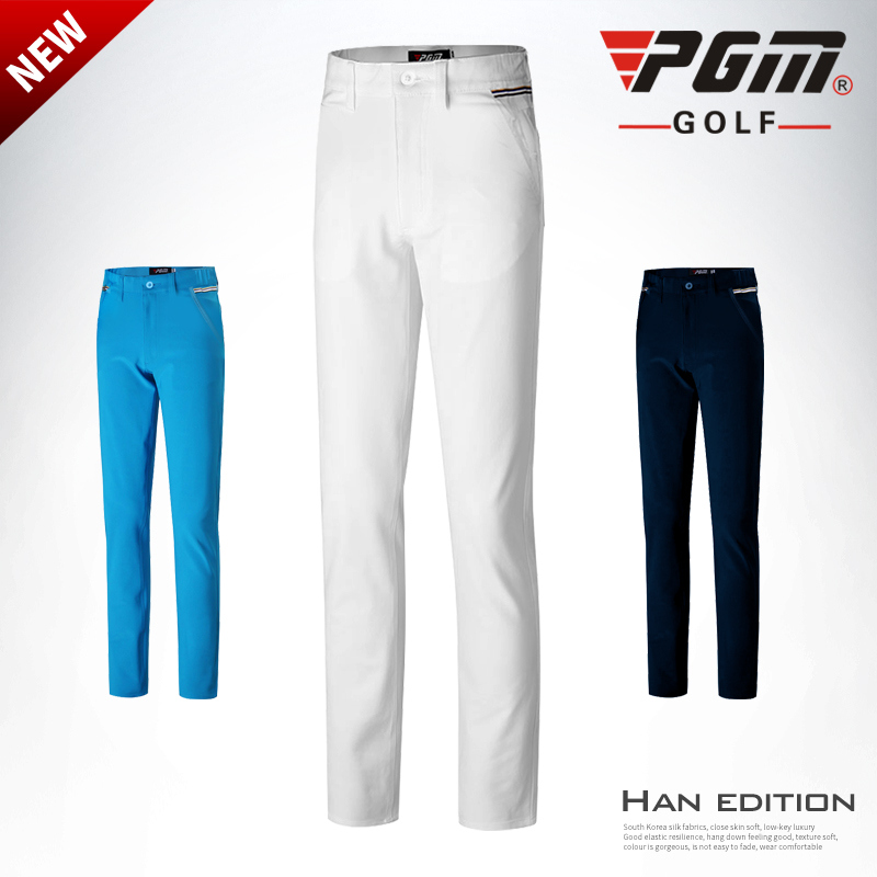 Pgm Boys Golf Pants Spring Autumn Slim Breathable Golf Sport Trousers High Elastic Children Full Length Pants AA51878-in Golf Pants from Sports & Entertainment    1